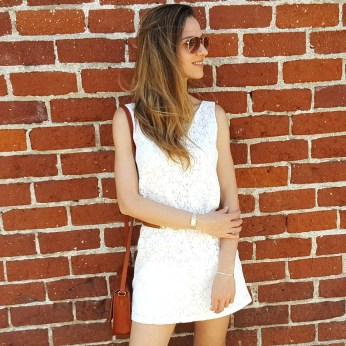 Cuddy Studios White Lace Hannah Dress, banana Republic Skinny Belt, Lucky Brand Emmy Flats, Aviators, Lucky Brand Saddle Bag (9)